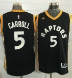 Toronto Raptors #5 DeMarre Carroll Black Gold Stitched NBA Jersey