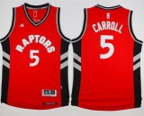 Toronto Raptors #5 DeMarre Carroll Red Stitched NBA Jersey