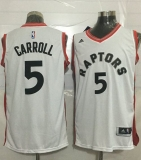 Toronto Raptors #5 DeMarre Carroll White Stitched NBA Jersey
