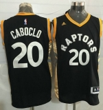 Toronto Raptors #20 Bruno Caboclo Black Gold Stitched NBA Jersey