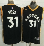 Toronto Raptors #31 Terrence Ross Black Gold Stitched NBA Jersey
