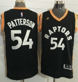 Toronto Raptors #54 Patrick Patterson Black Gold Stitched NBA Jersey