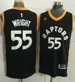 Toronto Raptors #55 Delon Wright Black Gold Stitched NBA Jersey