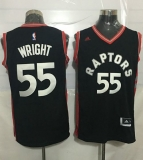 Toronto Raptors #55 Delon Wright Black Stitched NBA Jersey