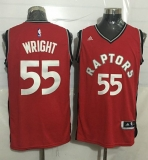 Toronto Raptors #55 Delon Wright Red Stitched NBA Jersey
