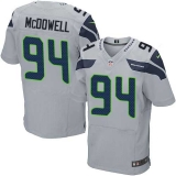 Nike Seahawks #94 Malik McDowell Grey Alternate Men\'s Stitched NFL Elite Jersey