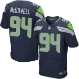 Nike Seahawks #94 Malik McDowell Steel Blue Team Color Men\'s Stitched NFL Elite Jersey