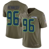 Nike Seahawks #96 Cortez Kennedy Olive Men\'s Stitched NFL Limited 2017 Salute to Service Jersey