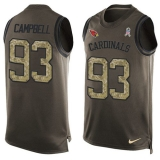 Nike Cardinals #93 Calais Campbell Green Men\'s Stitched NFL Limited Salute To Service Tank Top Jersey