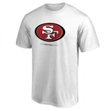 Men\'s San Francisco 49ers Pro Line White Team Lockup T-Shirt