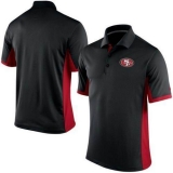 Nike NFL San Francisco 49ers Black Team Issue Performance Polo