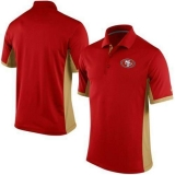 Nike NFL San Francisco 49ers Scarlet Team Issue Performance Polo