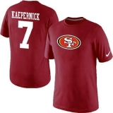Nike San Francisco 49ers #7 Kaepernick Name & Number NFL T-Shirt Red