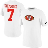Nike San Francisco 49ers #7 Kaepernick Name & Number NFL T-Shirt White