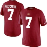 Nike San Francisco 49ers #7 Kaepernick Pride Name & Number NFL T-Shirt Red