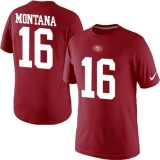 Nike San Francisco 49ers #16 Joe Montana Pride Name & Number NFL T-Shirt Red