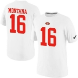 Nike San Francisco 49ers #16 Joe Montana Pride Name & Number NFL T-Shirt White