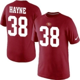 Nike San Francisco 49ers #38 Jarryd Hayne Name & Number NFL T-Shirt Red_1