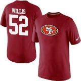 Nike San Francisco 49ers #52 Patrick Willis Name & Number NFL T-Shirt Red