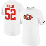 Nike San Francisco 49ers #52 Patrick Willis Name & Number NFL T-Shirt White