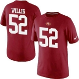Nike San Francisco 49ers #52 Patrick Willis Pride Name & Number NFL T-Shirt Red