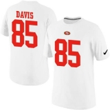 Nike San Francisco 49ers #85 Vernon Davis Pride Name & Number NFL T-Shirt White