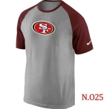 Nike San Francisco 49ers Ash Tri Big Play Raglan NFL T-Shirt Grey Red