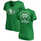 Women\'s San Francisco 49ers Pro Line by Fanatics Branded Customized Dubliner T-Shirt - Kelly Green