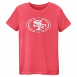 Youth San Francisco 49ers Pink Neon Logo T-Shirt