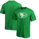 Youth San Francisco 49ers Pro Line by Fanatics Branded St Patrick\'s Day White Logo T-Shirt - Kelly Green