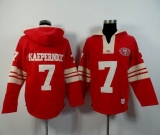San Francisco 49ers #7 Colin Kaepernick Red Player Winning Method Pullover NFL Hoodie