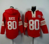 San Francisco 49ers #80 Jerry Rice Red Player Winning Method Pullover NFL Hoodie