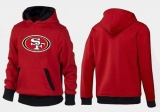San Francisco 49ers Logo Pullover Hoodie Red & Black