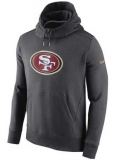 San Francisco 49ers Nike Championship Drive Gold Collection Hybrid Fleece Performance Hoodie - Charcoal