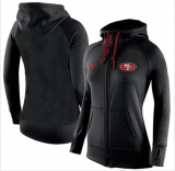 Women Nike San Francisco 49ers Full-Zip Performance Hoodie Black