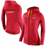 Women Nike San Francisco 49ers Full-Zip Performance Hoodie Red