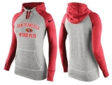 Women Nike San Francisco 49ers Performance Hoodie Grey & Red_2