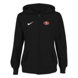 Women San Francisco 49ers Stadium Rally Full Zip Hoodie Black