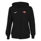 Women\'s Nike San Francisco 49ers Ladies Tailgater Full Zip Hoodie Black