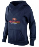 Women\'s San Francisco 49ers Big & Tall Critical Victory Pullover Hoodie Navy Blue