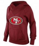 Women\'s San Francisco 49ers Logo Pullover Hoodie Red