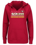 Women\'s San Francisco 49ers Majestic Self-Determination Pullover Hoodie - Scarlet