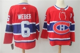 Montreal Canadiens #6 Red NHL Jersey
