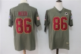 Washington Red Skins #86 Grey NFL Jersey