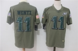 Philadelphia Eagles #11  Grey NFL Jersey