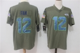 Seattle Seahawks #12 Grey NFL Jersey