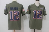 New England Patriots #12 Grey NFL Jersey