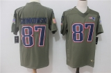 New England Patriots #87 Grey NFL Jersey