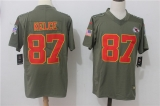 Kansas City Chiefs #87 Grey NFL Jersey (1)