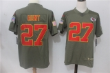 Kansas City Chiefs #27 Grey NFL Jersey (3)